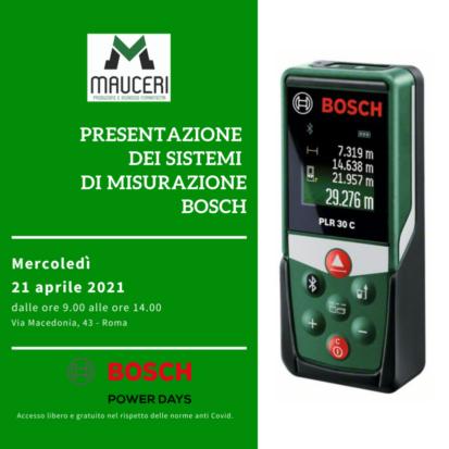 Presentazione strumenti di misurazione Bosch